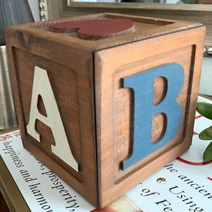 Other - Vintage ABCD Wood Block Handmade USA